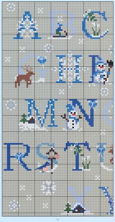 Christmas blue alphabet 1-of-2 / Gallery.ru / Фото #50 - 4089 - Auroraten
