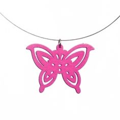 Summerish pink butterfly necklace Butterfly Necklace, Pink Butterfly, Jewelry, Jewlery, Bijoux, Jewerly, Jewelery, Jewels, Accessories