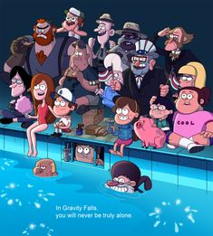 This is a picture from the deep end (gravity falls). Gravity Falls might seem like just a cartoon,but it is full of secrets you should watch it is a great show!:)