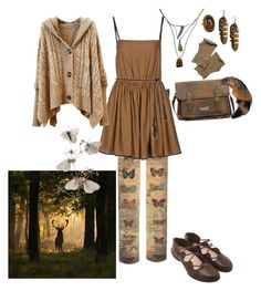 """To the forest"" by hachi13 ❤ liked on Polyvore featuring Mila Schön, Trippen, ASOS, 1928, Forever 21 and Isabel Marant"