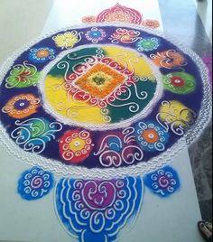 Simple Rangoli Designs