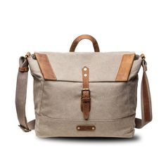 The Pioneer - Canvas   Leather Messenger