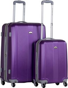 CalPak Torrino Carry-On Hardside Luggage Set Purple - via eBags.com!