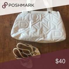 Bundle for Leah DKNY bag and white heeled sandals Bags Totes