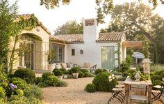 Patina Farm + Spanish colonial + Back patio Mediterranean Architecture, Mediterranean Homes, California Architecture, Landscape Architecture, Architecture Design, Spanish Style Homes, Spanish House, Spanish Colonial, Spanish Revival