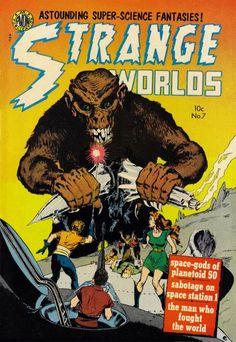 Comic Book Cover For Strange Worlds Issue #7 Avon Comics