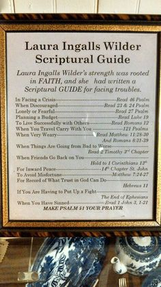 Laura Ingalls Wilder - her evident belief in God helped! A woman with the true pioneer spirit and perseverance. Laura Ingalls Wilder, Bible Quotes, Bible Verses, Scriptures, Writer Quotes, Scripture Study, Shining Tears, God Is Good, Wise Words