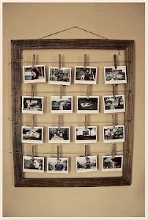 Cute idea for Elana's room so she can change out the pics as often as she wants