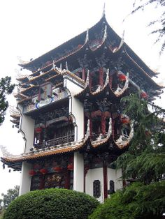 Beautiful Tea House with Traditional Chinese Architecture, Yichang, Hubei, China