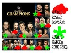 """Clash of Champions Predictions 2016"" by makhinegankaller14 ❤ liked on Polyvore featuring WWE and wweoc"