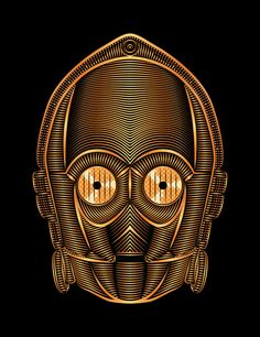 StarWars - C-3PO Art Print by Nathan Owens