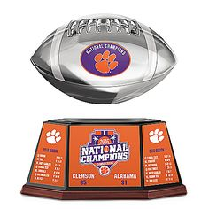 Clemson 2016 National Champions Sculpture with Levitating Football: 1 of 5000