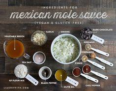 Food Lover Friday: Vegetable Enchiladas with Mole Sauce via Liagriffith