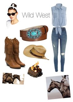 """Cowgirl Confidence"" by janelavanela ❤ liked on Polyvore featuring Style & Co., Nocona, Boohoo and Leftbank Art"