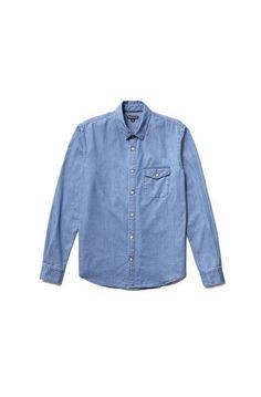 Denim shirt ... Whistles Denim Button Up, Button Up Shirts, Whistles, Denim Shirt, Jackets, Men, Tops, Fashion, Down Jackets