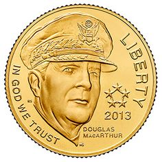 Longer Available - The 2013 Generals Commemorative Proof Gold Coin - A handsome coin that is sure to enhance your collection! Gold Eagle Coins, Gold And Silver Coins, Bullion Coins, Gold Bullion, Gold Coins For Sale, Caspar David Friedrich, Gold Money, Euro, Bee Art