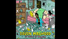 """Artwork for the standup comedian Davon Magwood's """"I'd rather be napping"""" album. By Matt Gondek"""