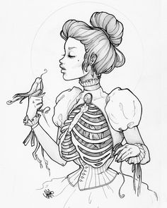 A Caged Heart Cannot Sing - your choice of or print of graphite illustration on card stock. Signed on back by the artist. - Online Store Powered by Storenvy Art Inspo, Kunst Inspo, Art And Illustration, Kunst Tattoos, Drawn Art, Halloween Tattoo, Desenho Tattoo, Cool Drawings, Amazing Drawings