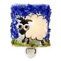 Recycled Glass Sheep Night Light