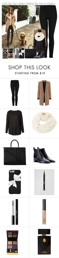 """""""Cold Day Out in London Walking the Dog with Eleanor"""" by elise-22 ❤ liked on Polyvore featuring Calder, Topshop, Oasis, Yves Saint Laurent, Acne Studios, Stila, shu uemura, NARS Cosmetics, Tom Ford and ASOS"""