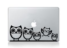 Macbook cute owl family vinyl sticker bird decals transfer graphic laptop…