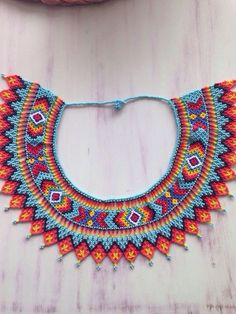 Seed Bead Necklace, Seed Bead Bracelets, Beaded Jewelry Patterns, Beading Patterns, Native American Beadwork, Beaded Collar, Beaded Ornaments, Beads And Wire, Loom Beading