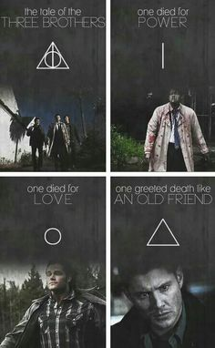 My two favorite things, harry potter and supernatural. <3