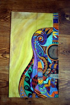 Acrylic painting on canvas acrylic guitar by ArtworksEclectic: