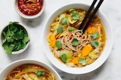 Swap out the cabbage for kim chi. Humble cabbage takes center stage in this vegetarian ramen inspired soup.