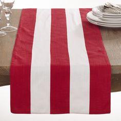 Saro Saint John Collection Striped Design Table Runner