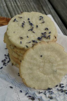 Lavender Poppy Seed Shortbread | Recipe | Poppies, Seeds and Lavender
