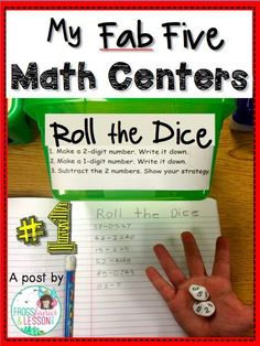 Flash Blog Post! Five Math centers that are fast to assemble, easy to update, and that keep kids learning all year long! Part 1.