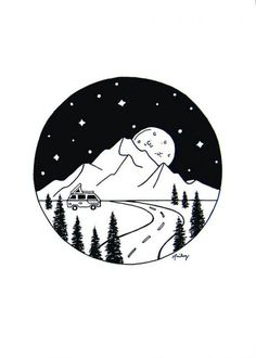 drawing space easy outer galaxy scene drawings aesthetic planet planets mountains artwork cool circle pencil sketches 5x7 simple rv doodle