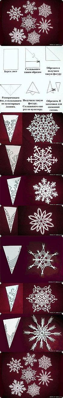 wzory na śnieżki(tam gdzie ciemne wycinac)