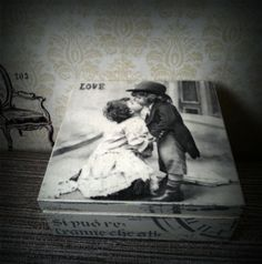 Hand Decorated Wooden Box & Shabby Chic £11.99