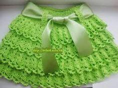 tutorial falda tejida a crochet con olanes para niñas - Buscar con Google