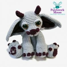 Merlin the Gargoyle amigurumi pattern by Patchwork Moose (Kate E Hancock)