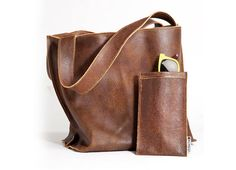 Brown leather bag, Soft leather, leather tote bag - Shiri bag op Etsy, £143.19
