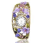 Women's Bohemia Style Purple Flower Decor Bronz... – USD $ 13.99