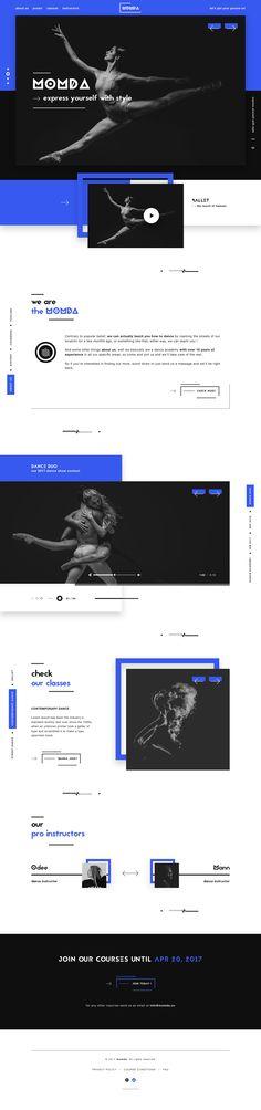 Momda dance academy website ui design minimal modern dribbble full