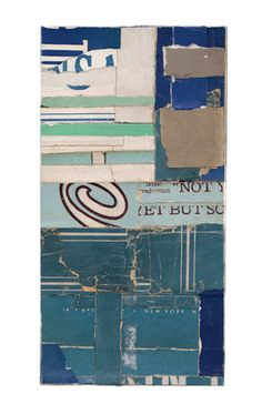 """Intermezzo-016,"" collage by Lisa Rochstein, made of salvaged paper"