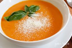 Tomato Bisque - This is velvety and creamy, high in fiber and low in fat.