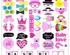 60 DIY PDF Printable Chalkboard Signs Speech Bubbles and Photo