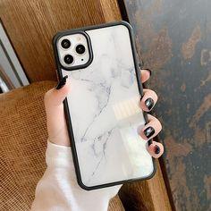 Shockproof Marble Case - White / iPhone 7 Plus/8 Plus