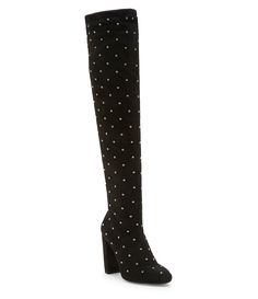 c520d71e2455 Jessica Simpson Bressy Stretch Microsuede Rhinestone Stud Over the Knee  Boots