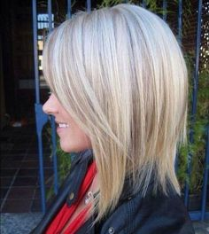 Probably as long as us fine, thin haired girls should go: Shoulder Length Haircut with Deep Side Bang