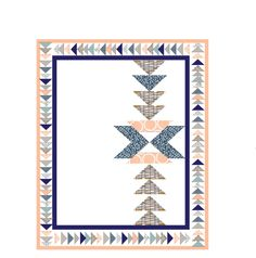 Beautiful baby nursery Indian Summer quilt.