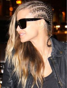 Braid-y lady! Carmen Electra gets an urban makeover as she swaps her long locks for tight cornrows Cornrows, Up Hairstyles, Braided Hairstyles, Natural Hair Styles, Short Hair Styles, White Girls, Hair Dos, Gorgeous Hair, Hair Designs