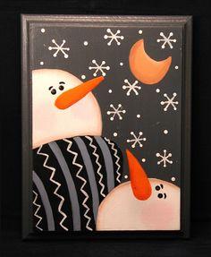 Snowman Moongazer Plaque