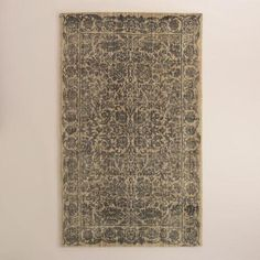 One of my favorite discoveries at WorldMarket.com: Gray Floral Tufted Wool Sapphire Area #livingroom